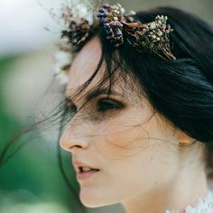 This photo is so me...I love a little blurriness, green background with bokeh, and movement in hair. ______________________ Creative team:  Design, Styling & Creative Direction: @lovejunedesign Flowers: @helmivillakko Dress: @pukuni Antique & vintage ren