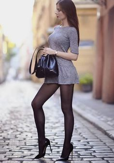 Pin by latif kadria on asian beauty girl black pantyhose, sk Great Legs, Beautiful Legs, Gorgeous Women, Tight Dresses, Sexy Dresses, Short Dresses, December Outfits, Style Feminin, Elegantes Outfit