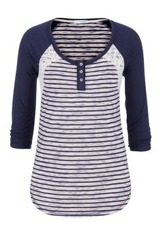 striped baseball tee with lace. Casual and cute- style with skinny jeans for a good sports mom look. Love that it's more than just a baseball tee Fall Outfits, Casual Outfits, Cute Outfits, Sport Outfits, Modest Fashion, Fashion Outfits, Womens Fashion, Fashion Fashion, Stitch Fix Outfits