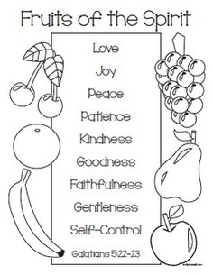 Fruit Of The Spirit Links Stars Bible Coloring Pages Sunday