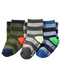 3-Pack Socks from Carters.com. Shop clothing & accessories from a trusted name in kids, toddlers, and baby clothes.