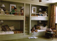 Bunkbeds - good idea for a cottage/cabin - Suzanne Kasler