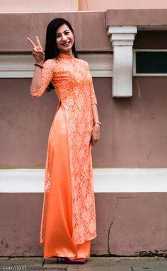 Image result for aodai orange