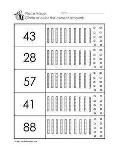 Worksheets Activitiesunderstanding Place Value Up To 3 Digit Numbers Gs Place Value Worksheets, Science Worksheets, Number Worksheets, Tracing Worksheets, Math Activities, Math Games, Toddler Activities, Montessori Math, Letter I