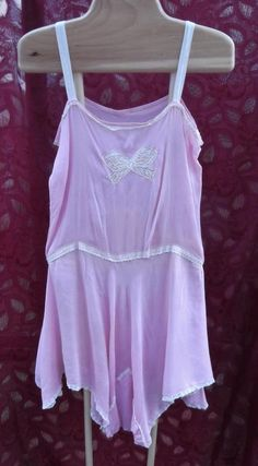 8de8ffc0f1a40 Vintage 1920s 1930s Teddy Chemise Pink Silk Off-White French Lace Flapper  French Lace,