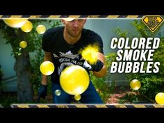 How to Make Colored Smoke-Filled Bubbles Colored Bubbles, Colored Smoke, Blowing Smoke, Blowing Bubbles, Bubble Video, Bubble Gang, Green Bubble, Why Try, Science Experiments Kids