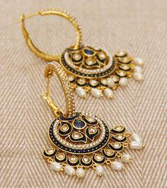 Kundan & Pearl Embellished Traditional Jhumki