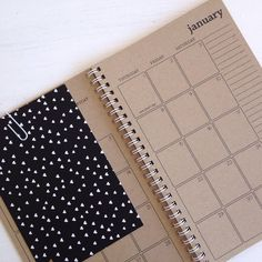 a simple and rustic kraft monthly planner that will help you take on each month in 2015. the planner is the perfect size to keep on your desk or