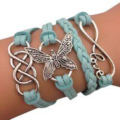 Light Blue Butterfly Arm Party Bracelet