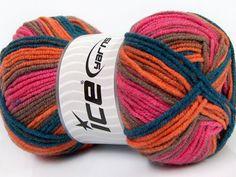 Design Wool Pink Orange Navy Camel