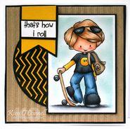 Sk8tr | Skate boarding boy Stamp | Digital Stamps By Tiddly Inks