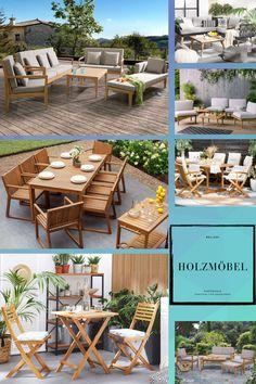 Holz und Teak Gartenmöbel gelten seit langem als ein Klassiker für Outdoor Gartenmöbel. Ein Holztisch passt sich dank seiner Natürlichkeit und Schlichtheit hervorragend an jegliche Art von Gartenausstattung an und kann problemlos mit einer Holz Gartenbank oder Holzstuhl kombiniert werden. Wenn Sie Ihr Holz Tischset unbehandelt lassen, dann bekommt es mit der Zeit eine graue Schicht, welche Patina genannt wird. Outdoor Furniture Sets, Outdoor Decor, Rest, Home Decor, Teak Garden Furniture, Be Creative, Modern Outdoor Furniture, Timber Table, Waiting