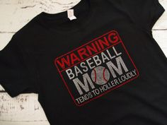 Rhinestone Baseball Mom Shirt Baseball by BlingMeBabyBoutique, $26.99