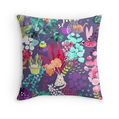 Designer Throw Pillows Featuring Unique & Original Art and Design.