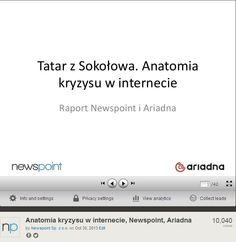 """Czy wiecie, że nasz raport """"Anatomia kryzysu w internecie"""" na SlideShare został wyświetlony już ponad 10 000 razy? Zapraszamy do lektury tych z Was, którzy jeszcze go nie widzieli! :-) www.slideshare.net/newspoint/anatomia-kryzysu-w-internecie-newspoint-ariadna"""