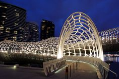 Webb Bridge in Melbourne, Australia.