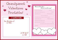 Valentine's Day to Grandparents, free printables