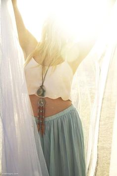 Boho Girl fashion summer girl hipster hippy skirt necklace style boho hip bead - boho - ☮k☮