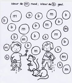 Have kids find the letter of the day and color it.