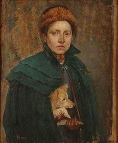 Louise Breslau (1856-1927) : Autoportrait (1891 - Strasbourg)