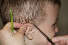 BOY HAIRCUT   This blog was perfect--just cut my 14 month old son's hair following the step-by-step with pics