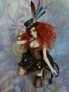 SENSUAL OOAK STEAMPUNK FAIRY ART DOLL SCULPTURE   _Kim Johnson (wrens-fairy-realm)