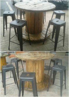 Pallet Cable Reel Table