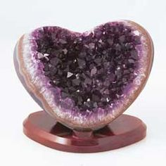 Natural Crystals.  With a Valentine's Day birthday and an amathyst birthstone, I want, want, want this!