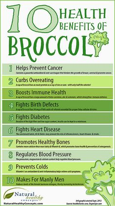10 Health Benefits of #Broccoli #Infographic