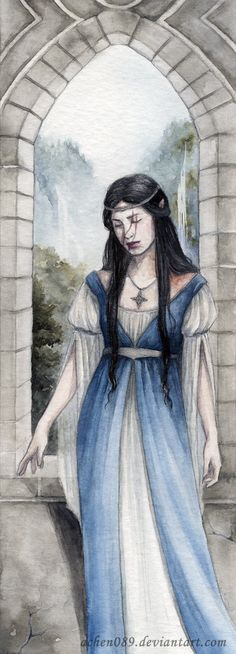 Lady Anutar Bookmark by Achen089 on deviantART  I could see this as Elwing waiting for her husband in her tower
