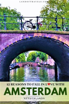 Visiting Amsterdam Netherlands: A detailed travel guide on Amsterdam and why its so easy to fall in love with this European gem - Land Of Travels European Vacation, European Destination, European Travel, Amsterdam Things To Do In, Visit Amsterdam, Amsterdam Travel, Cool Places To Visit, Places To Travel, Travel Destinations