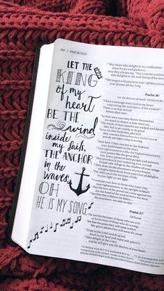 KING OF MY HEART - Bible Journaling