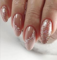 wedding nail designs 25 Latest Wedding Nail Hair Loss, Not The Manicure Nail Designs, Manicure And Pedicure, Nail Art Designs, Gel Nails, Manicure Ideas, Coffin Nails, Acrylic Nails, Nagellack Design, Nagellack Trends