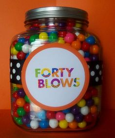 """fourty """"blows"""" for a 40-year-old-birthday-gift!"""