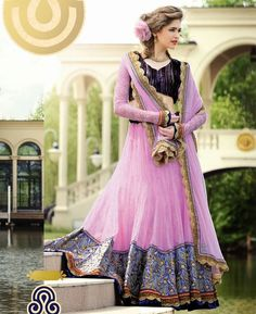 Pink & Jacquard A Line Lehenga Choli
