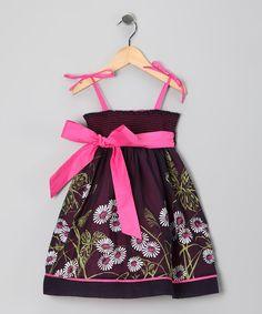 Midnight Bloom Dress - Toddler & Girls