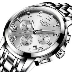 New LIGE Chronograph Men Sports Watches