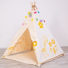 Children's Room Decor – Tipi Teepee Tepee Wigwam, Kids Play Tent – a unique product by Bogarne on DaWanda