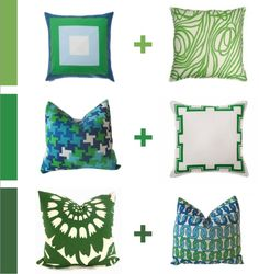 Green series - How to mix & match patterns - blog pix