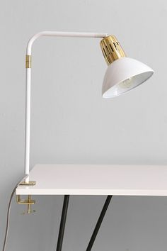 Clip Lamp.. for a desk, or nightstand, small space xoxo