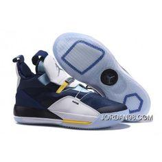 dd6b93601b4b Air Jordan 33 XXXIII Navy Blue White-Mint Green-Yellow Buy Now