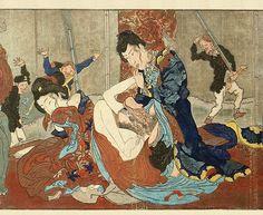 kyosai kawanabe shunga hokusai utamaro kunisada kuniyoshi meiji era