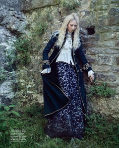 Modern Victorian Fashion ◆ Vogue Korea Winter 2015 featuring model Soo Joo Park ◆ Embellished coat from Chanel with White Corset