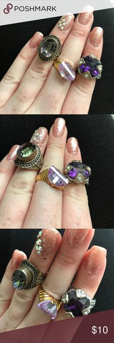 3 RINGS Love these little statement rings :) perfect for any occasion Accessories