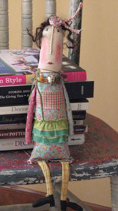 PATTERN Vintage Mixed Media Folk Art Doll ..... от OffTheBeam