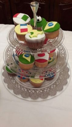 Cupcakes world cup party birthday