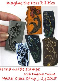 Hand-made stamp for polymer clay