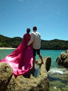 This incredible wedding shoot took place at Te Pukatea in the Abel Tasman.  The Dream Maker team created everything for the day.