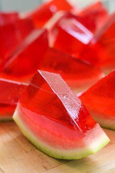 DIY watermeloen gelei kleurrijke eten meer - Pantip.
