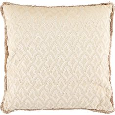 Cream Jacquard Feather Cushion - TK Maxx